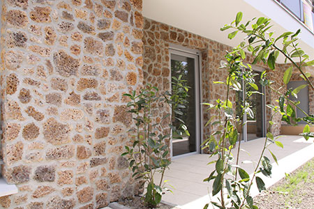 Wall front for residential building