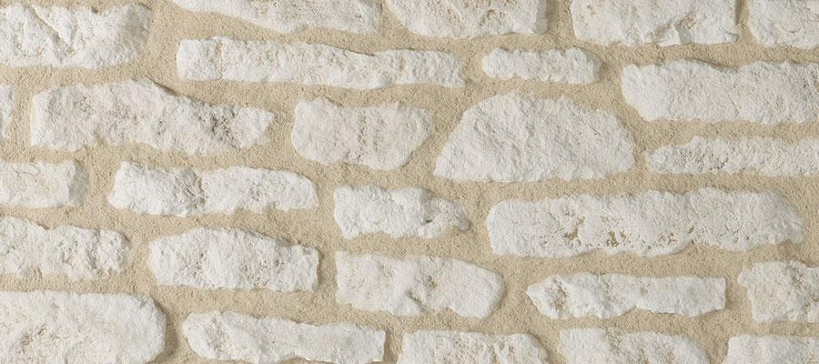 Sand stone wall facing causse for a natural style orsol for Pierre de parement exterieur sans joint